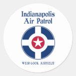 Fuerza aérea de Indianapolis Pegatina Redonda