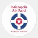 Fuerza aérea de Indianapolis Pegatinas Redondas