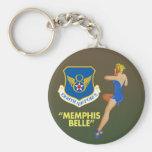 """Fuerza aérea de la belleza de Memphis 8va"""" Llavero Redondo Tipo Pin"""