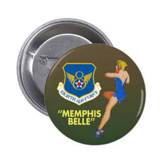 """""""Fuerza aérea de la belleza de Memphis 8va"""" Pin Redondo De 2 Pulgadas"""