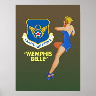 """""""Fuerza aérea de la belleza de Memphis 8va"""" Póster"""