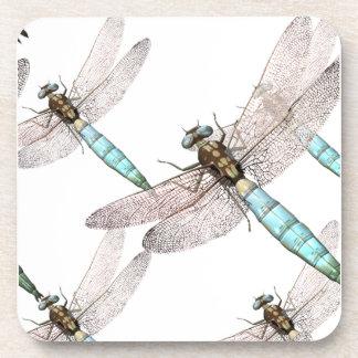 Fuerza aérea de la libélula en blanco posavasos de bebida