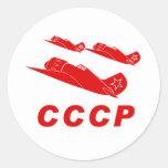 Fuerza aérea del rojo de CCCP Etiquetas Redondas