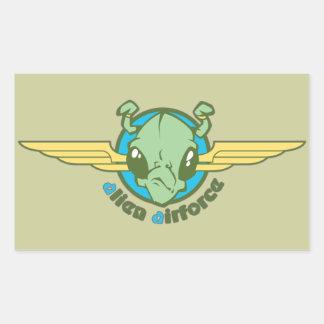 Fuerza aérea extranjera pegatina rectangular