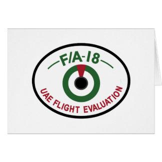 Fuerza aérea FA de Sqn United Arab Emirates del Tarjeta De Felicitación