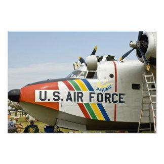Fuerza aérea Grumman HU-16B de la sección de nariz Impresion Fotografica
