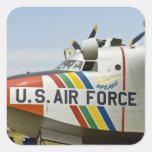 Fuerza aérea Grumman HU-16B de la sección de nariz Pegatina Cuadrada