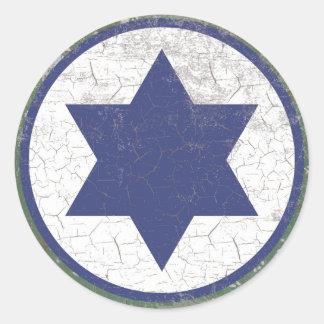Fuerza aérea israelí Roundel de la estrella azul Pegatina Redonda