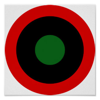 Fuerza aérea libia real Roundel 1951-1969 Posters