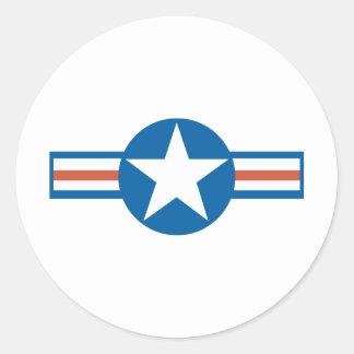 Fuerza aérea Logo_2 del vintage Pegatina Redonda