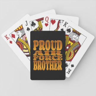 Fuerza aérea orgullosa Brother en oro Cartas De Juego