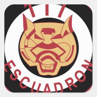 Fuerza aérea peruana FAP 111 Escudron Squ del Calcomanía Cuadradase