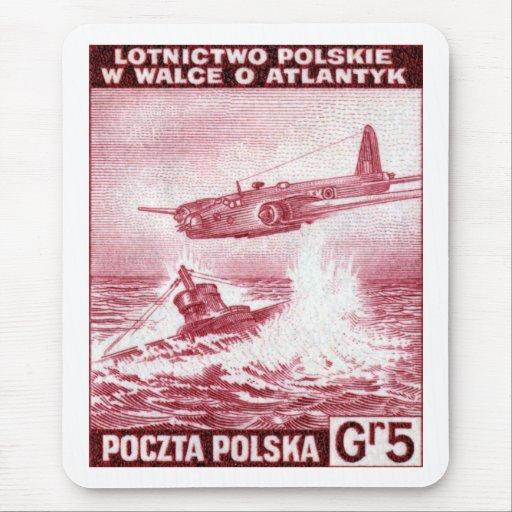 Fuerza aérea polaca de WWII Tapetes De Ratones