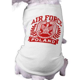 Fuerza aérea polaca playera sin mangas para perro