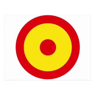 Fuerza aérea Roundel de España Tarjetas Postales