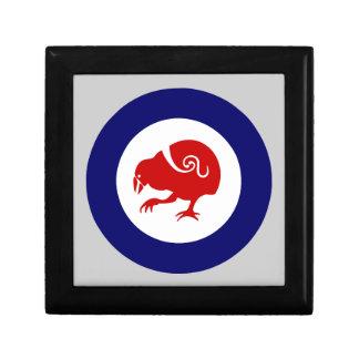 Fuerza aérea Roundel de Takahe Joyero Cuadrado Pequeño