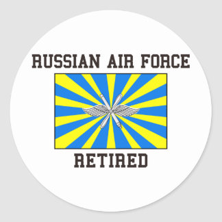 Fuerza aérea rusa jubilada pegatina redonda
