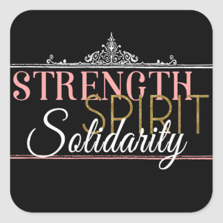 Fuerza, alcohol, solidaridad pegatina cuadrada