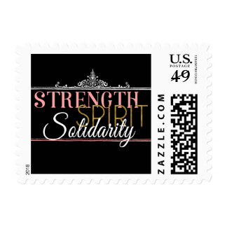 Fuerza, alcohol, solidaridad sello postal