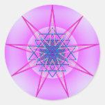 Fuerza celestial #9 pegatina redonda