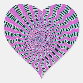 Fuerza cósmica púrpura SANTA - adapte a su Pegatina En Forma De Corazón