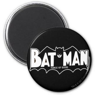 Fuerza de Batman el | del buen logotipo 60s Imán Redondo 5 Cm