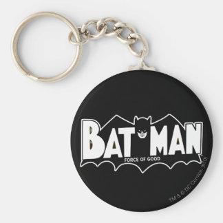 Fuerza de Batman el | del buen logotipo 60s Llavero Redondo Tipo Pin