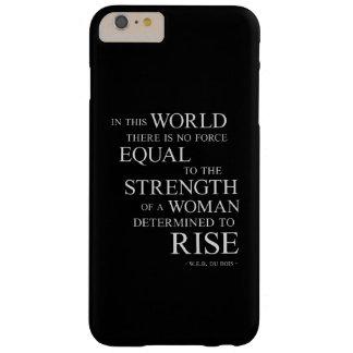 Fuerza de la cita inspirada B de la mujer resuelta Funda De iPhone 6 Plus Barely There