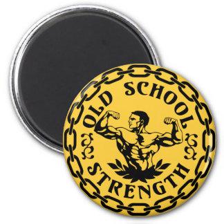 Fuerza de la escuela vieja imán redondo 5 cm
