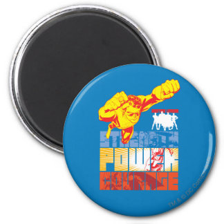 Fuerza de la liga de justicia Poder Valor Carác Imanes De Nevera