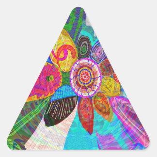 Fuerza de la vida del SOL en la tierra Pegatina Triangular