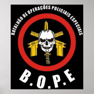 Fuerza de policía especial de BOPE Tropa De Elite Posters