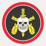 Fuerza de policía especial de BOPE Tropa De Elite Pegatina Redonda