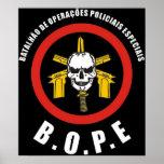 Fuerza de policía especial de BOPE Tropa De Elite  Póster