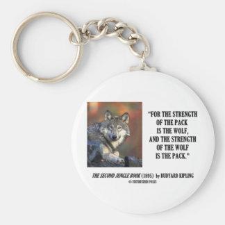 Fuerza de Rudyard Kipling de la cita del lobo del  Llavero