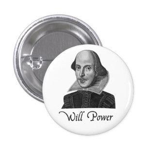 Fuerza de voluntad de William Shakespeare Pins