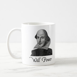 Fuerza de voluntad de William Shakespeare Taza Clásica