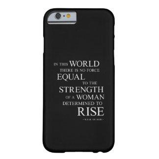 Fuerza del blanco negro inspirador de las citas de funda de iPhone 6 barely there