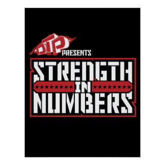 Fuerza del DTP en poster de los números