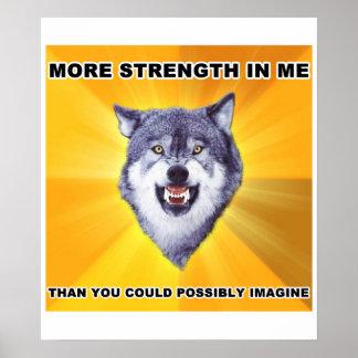 Fuerza del lobo del valor póster