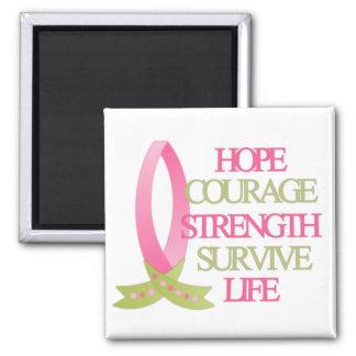 Fuerza del valor de la esperanza del cáncer de pec imán cuadrado