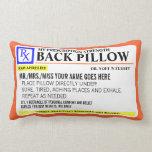 Fuerza divertida de la prescripción almohadas