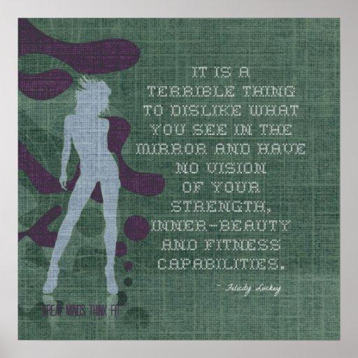 Fuerza e Interno-Belleza en poster del punto de cr