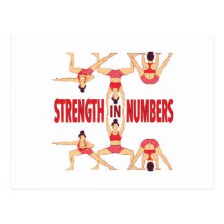 Fuerza en números tarjeta postal