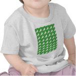Fuerza en números verdes camisetas