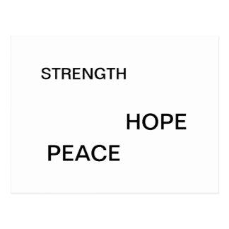 """""""Fuerza, esperanza, postal de la paz"""""""