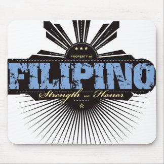 Fuerza filipina y Ho - azul Alfombrillas De Ratones