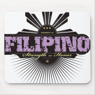 Fuerza filipina y Ho - púrpura Tapetes De Raton