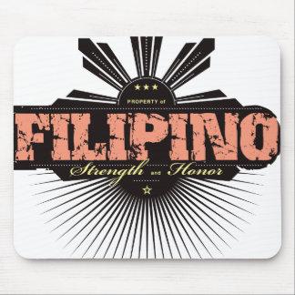 Fuerza filipina y Ho - rojo Alfombrilla De Ratones