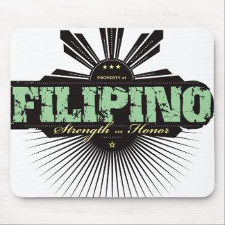 Fuerza filipina y Ho - verde Mousepad